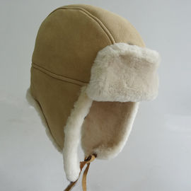 The queen of quality warm sheepskin trapper korean winter hat