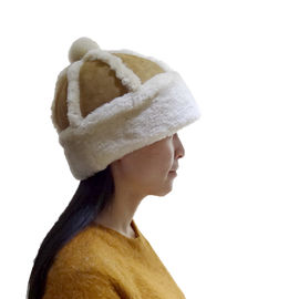 Classic Double Face Sheepskin Beanie Hat Winner Women Leather Hats