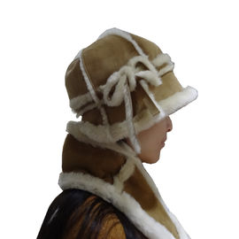 Keep Warm Australian Shearling Womens Hat Gloves Scarf Set Sheepskin Double Face
