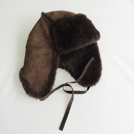 Custom Double Face Shearling Fur Hats Real Fur Warm Breathable High Density